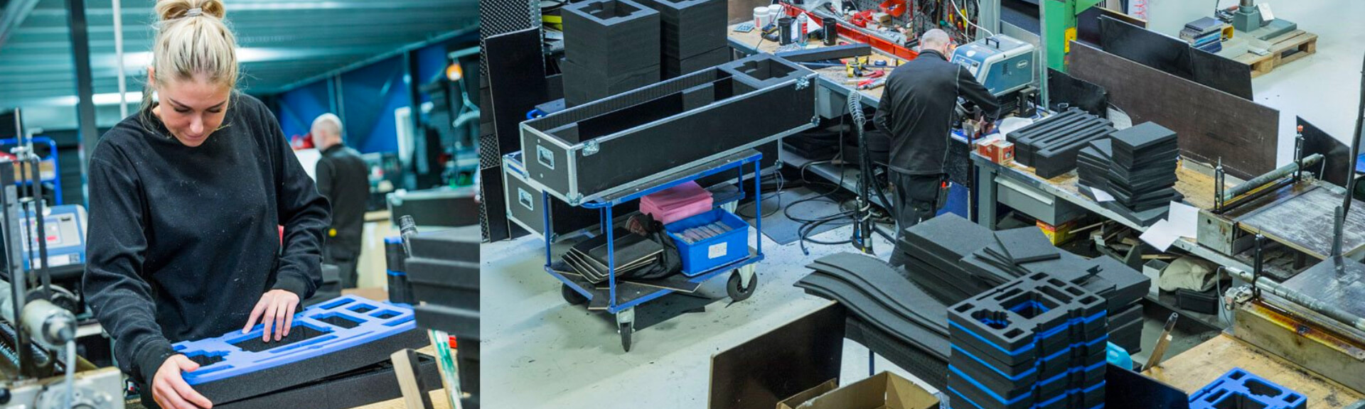 Produktion af skumindretninger til cases og kufferter