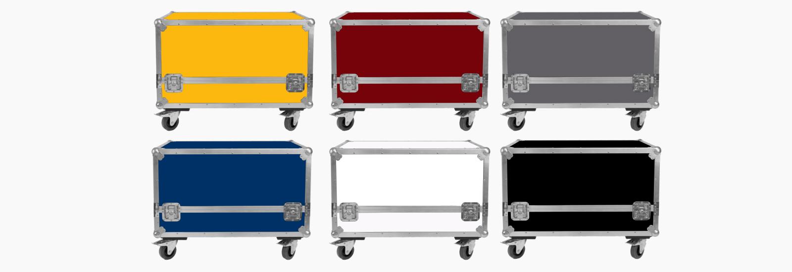 Flightcases i farver